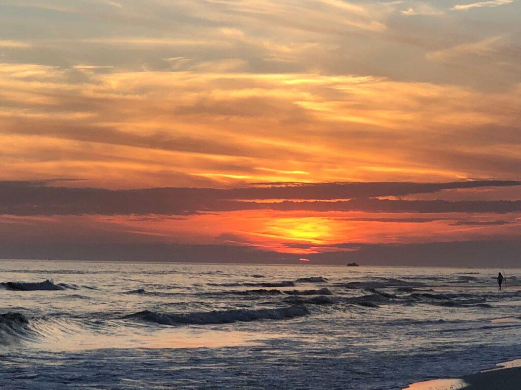 sunset over the beach in Destin, Florida